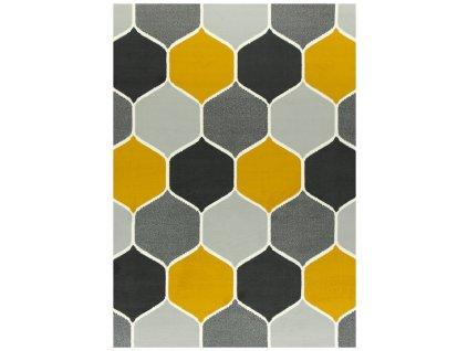 Kusový koberec LUNA 503833/89925 šedý/hořčicový