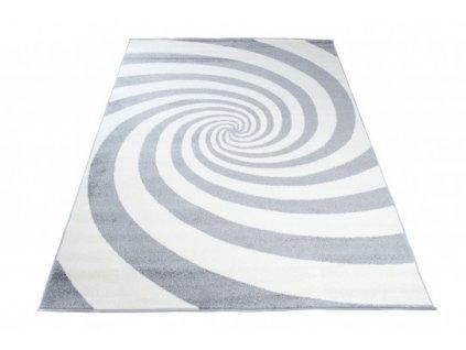 Moderní kusový koberec HIPNOTIZE Z036A šedý / bílý