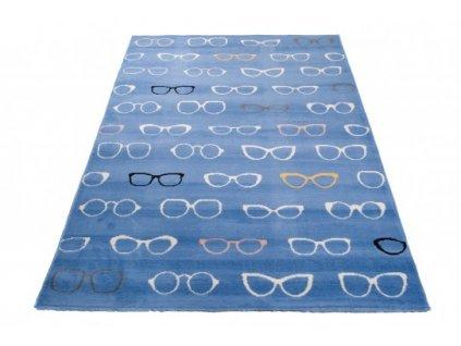 Dětský kusový koberec XENO 33493/031 Brýle modrý