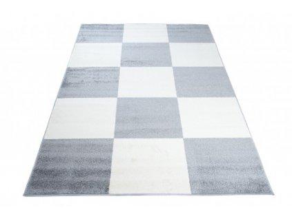 Moderní kusový koberec HIPNOTIZE Z033A šedý / bílý