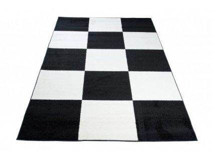 Moderní kusový koberec HIPNOTIZE Z033A černý / bílý
