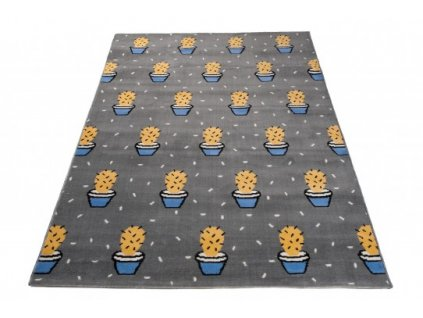 Dětský kusový koberec XENO 33485/071 Kaktusy šedý