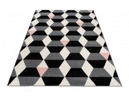 Moderní kusový koberec XENO 33479/271 šedý / černý