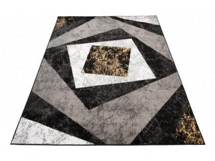 Moderní kusový koberec K855G CHEAP Černý