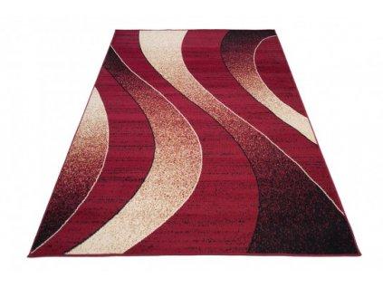 Moderní kusový koberec K857A CHEAP Červený