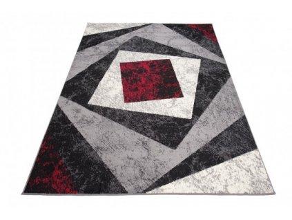 Moderní kusový koberec K855A CHEAP Černý