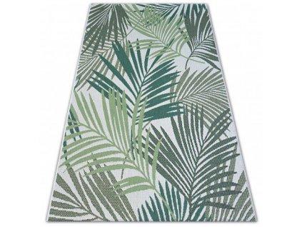 Kusový koberec Sisal COLOR 19433/062 zelené listí