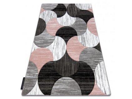 Kusový koberec ALTER Geo šedý / růžový