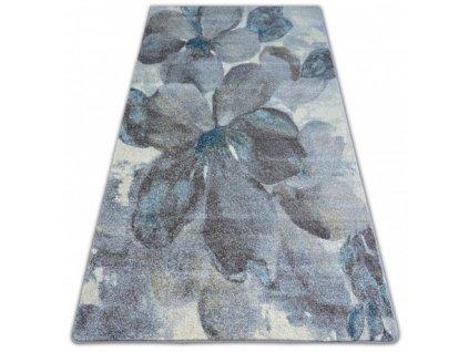 Kusový koberec NORDIC  FD291  Květy šedý / hnědý