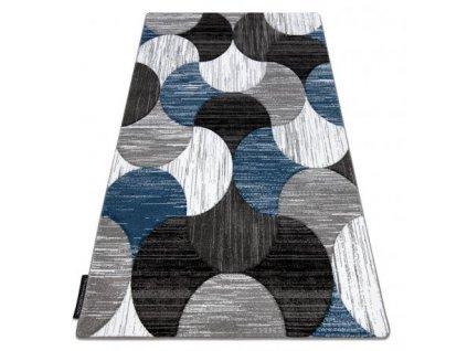 Kusový koberec ALTER Geo šedý / modrý