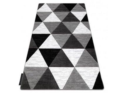 Kusový koberec ALTER Rino Trojúhelníky šedý