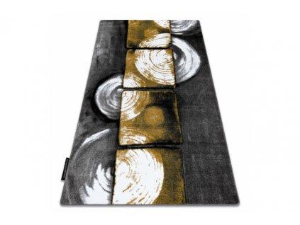 Kusový koberec INTERO 3D šedý žlutý