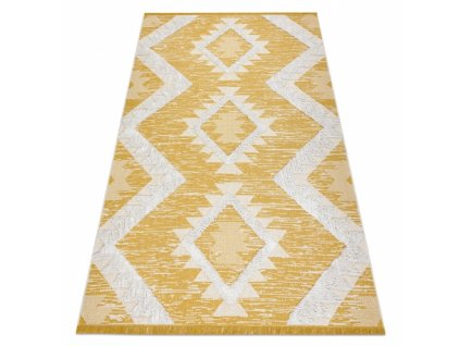 Kusový koberec Sisal MOROC 22312 žlutý