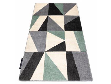 Kusový koberec ALTER zelený / šedý / černý