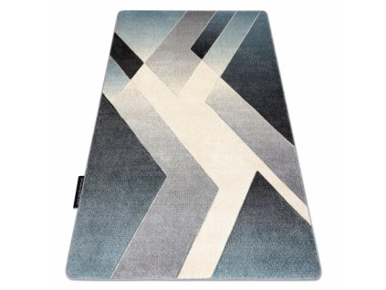 Kusový koberec ALTER Vild šedý / modrý