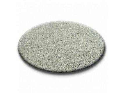 Kulatý koberec SHAGGY 5cm šedý