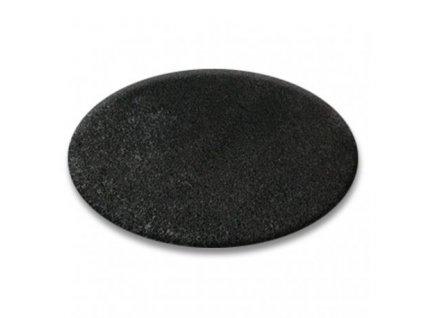 Kulatý koberec SHAGGY 5cm černý