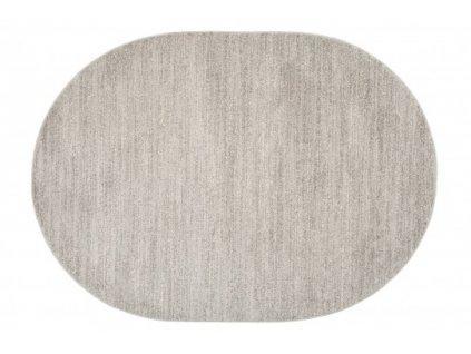 Oválný koberec SARI T006A světle šedý