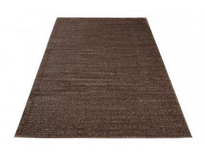 Kusový koberec SARI T006A tmavě hnědý