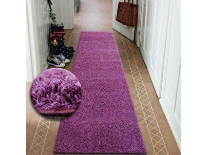 Běhoun SHAGGY 5cm fialový
