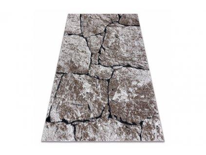 Moderní kusový koberec COZY 8985 Kámen hnědý
