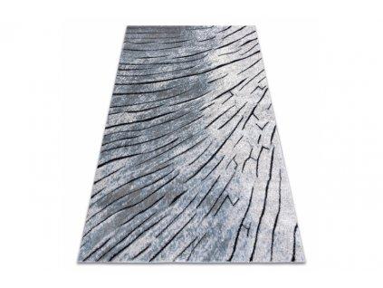 Moderní kusový koberec COZY 8874 Kůra stromu šedý modrý