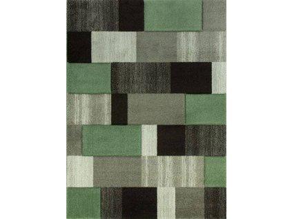 Kusový koberec Vegas Home 30BZZ šedý/zelený