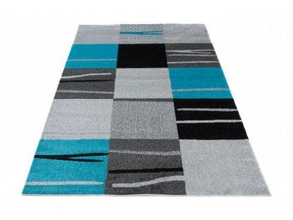 Kusový koberec  LUX VERSO 4131B A7B šedý / modrý