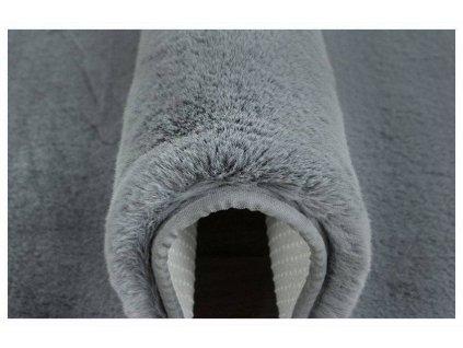 Kusový koberec BELLAROSSA RABBIT tmavě šedý