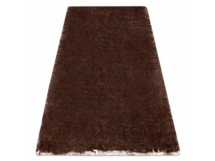 Kusový koberec Shaggy LAPIN slonová kost / čokoláda / hnědý