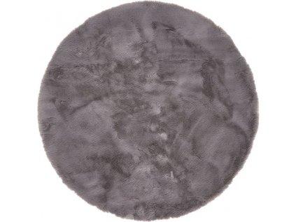 Kulatý koberec Shaggy Veneto jednobarevný antracitový