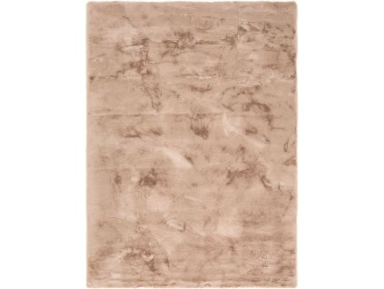 Kusový koberec Shaggy Veneto jednobarevný taupe / béžový
