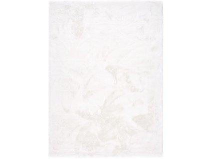 Kusový koberec Shaggy Veneto jednobarevný bílý
