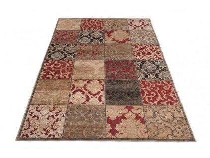 Kusový koberec Bohemian 23124 béžový / červený