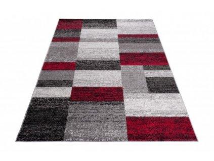 Kusový koberec JAWA J384A šedý / červený