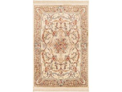 Klasický kusový koberec Ragotex Beluchi 88111 6222 Květy béžový