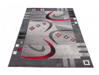 Kusový koberec CHEAP 4596A Tmavě šedý