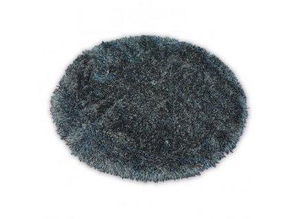 Kulatý koberec LOVE SHAGGY 93600 černý