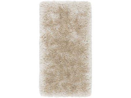 Kusový koberec jednobarevný Shaggy Plush Pearl krémový / béžový