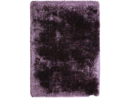 Kusový koberec jednobarevný Shaggy Plush Purple fialový