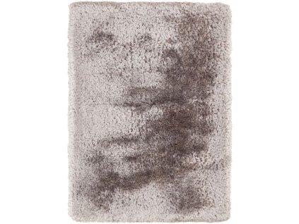 Kusový koberec jednobarevný Shaggy Plush Silver stříbrný / šedý