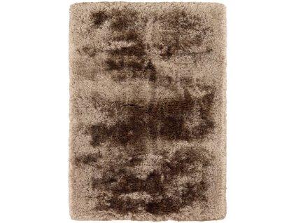 Kusový koberec jednobarevný Shaggy Plush Taupe béžový