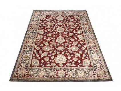 Kusový koberec Bohemian 23122 tmavě hnědý / červený