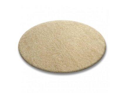 Kulatý koberec SHAGGY 5cm garlic béžový