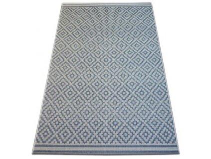 Kusový koberec SISAL FLAT 48357/951 modrý / krémový