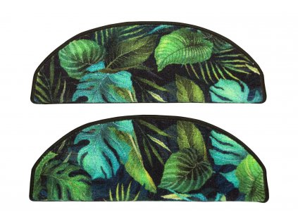 Kobercový nášlap Monstera listy palmy zelený