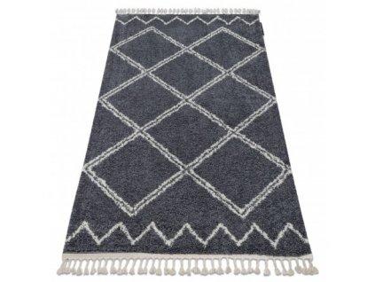Kusový koberec BERBER ASILA B5970 šedý bílý