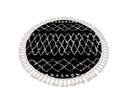 Koberec kulatý BERBER ETHNIC G3802 černý / bílý