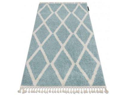 Kusový koberec BERBER TROIK A0010 modrý / bílý