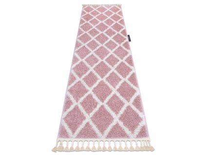 Koberec - běhoun BERBER TROIK růžový
